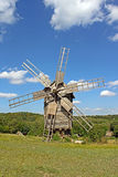 Windmill in the village, Ukraine Royalty Free Stock Image