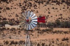 Windmill on vineyard Stock Image