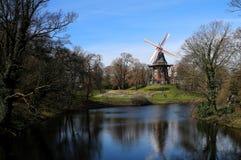 Windmill in Wallanlagen Park, Bremen. Germany Royalty Free Stock Image