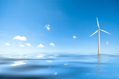 Windmill in water Stock Images