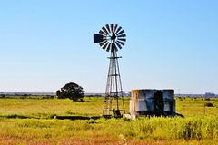 Windmill water pump Royalty Free Stock Photo