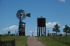 Windmill and Water Tower Royalty Free Stock Photo