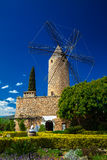 Windmill in the west part of Mallorca Stock Images