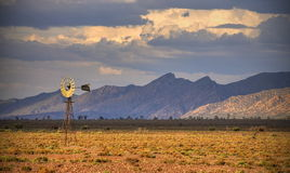 Windmill, West Pound Range, Flinders Ranges Royalty Free Stock Photo