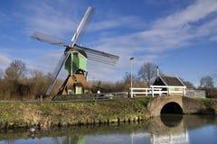 Windmill the Westmolen. Near the Dutch town Gorinchem Royalty Free Stock Image