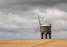 Windmill in a Wheat Field Stock Image