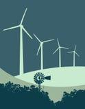 Windmill and Wind Turbines 3 Stock Image