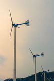 Windmill. Wind Turbines  for alternative energy production Stock Photography