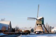 Windmill winter Holland Stock Image