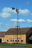 Windmill With New Barn Stock Image
