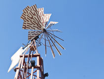 Windmill on wooden tower Royalty Free Stock Photography
