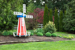 Windmill in Yard Stock Photos