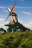 Windmill in Zaanse Schans Royalty Free Stock Photography