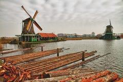 Windmill at zaanse schans Stock Photo