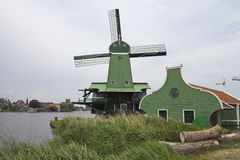 Windmill of the Zaanse Schans Stock Photos