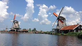 Windmill in Zaanse Schans Royalty Free Stock Images