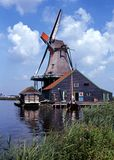 Windmill, Zaanse Schans, Holland. Stock Photography