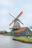 Windmill in Zaanse Schans, Holland Royalty Free Stock Image