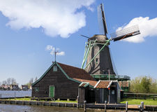 Windmill in Zaanse Schans near Amsterdam Stock Photo