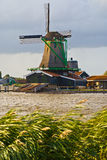 Windmill in Zaanseschans, Holland Royalty Free Stock Photography
