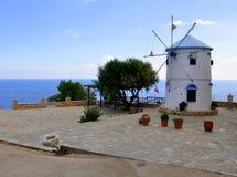 Windmill in Zakynthos stock photo