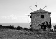 Windmill in Zakynthos Royalty Free Stock Photography