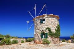 Windmill on Zakynthos island stock image