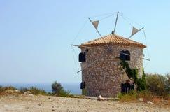 Windmill on Zakynthos island Stock Photos