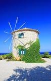 Windmill on Zakynthos island Royalty Free Stock Images