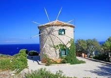 Windmill on Zakynthos island Stock Photo
