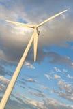 windmilll för wind för Kalifornien ökenlantgård arkivfoton