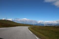 Windmillpark Måløy, Norge Arkivbilder