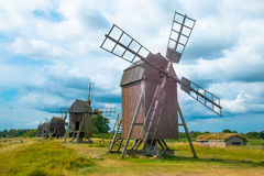 Windmills in öland. In Sweden royalty free stock images