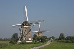Windmills. Dutch Windmills Stock Images