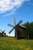 Windmills. In the clearing - Russia, Arkhangelsk Royalty Free Stock Images
