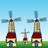 Windmills. An image of cartoon windmills Royalty Free Stock Photos
