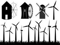 Windmills Stock Illustrationer
