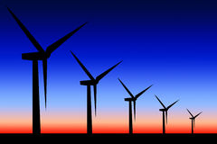 Windmills Stock Illustration