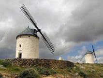 Windmills. At Castilla-La Mancha Stock Image
