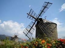 Windmills. In Montedor near Viana do Castelo, Portugal Stock Photography