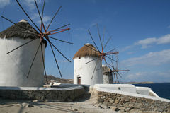 windmills Arkivfoton