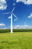 Windmills against a blue sky Royalty Free Stock Image