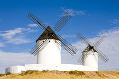 Windmills, Alcazar de San Juan Stock Photo