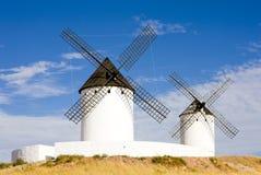 Windmills, Alcazar de San Juan Stock Photo