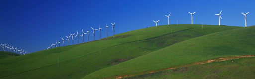 Windmills along Route 580 Stock Image