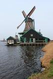 Windmills Along the Zaan River Royalty Free Stock Image