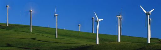 Windmills at Altamont Pass, CA Stock Photos