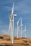 Windmills for alternative energy Royalty Free Stock Photos
