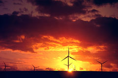 Windmills. Alternative energy. Stock Images