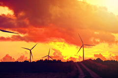 Windmills. Alternative energy. Stock Image